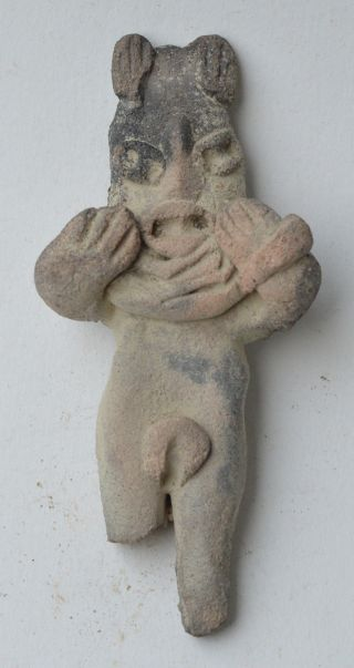 Pre Colombian Tlatilco Pottery Idol Clay Figure Figurine Pre Columbian photo