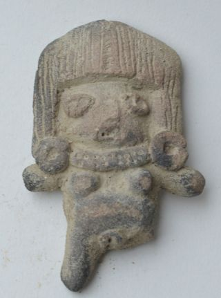 Mexico Small Michoacan Idol Figure Terracotta Pottery Pre Columbian. photo