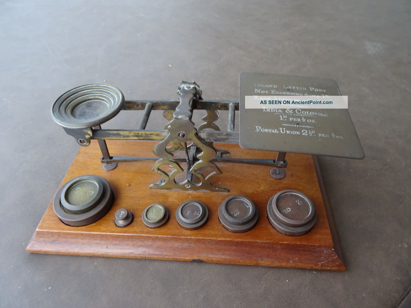 S.  Mordan & Co.  London Bronze Postal Scale Antique 1890 - 1910 Scales photo