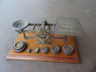 S.  Mordan & Co.  London Bronze Postal Scale Antique 1890 - 1910 photo