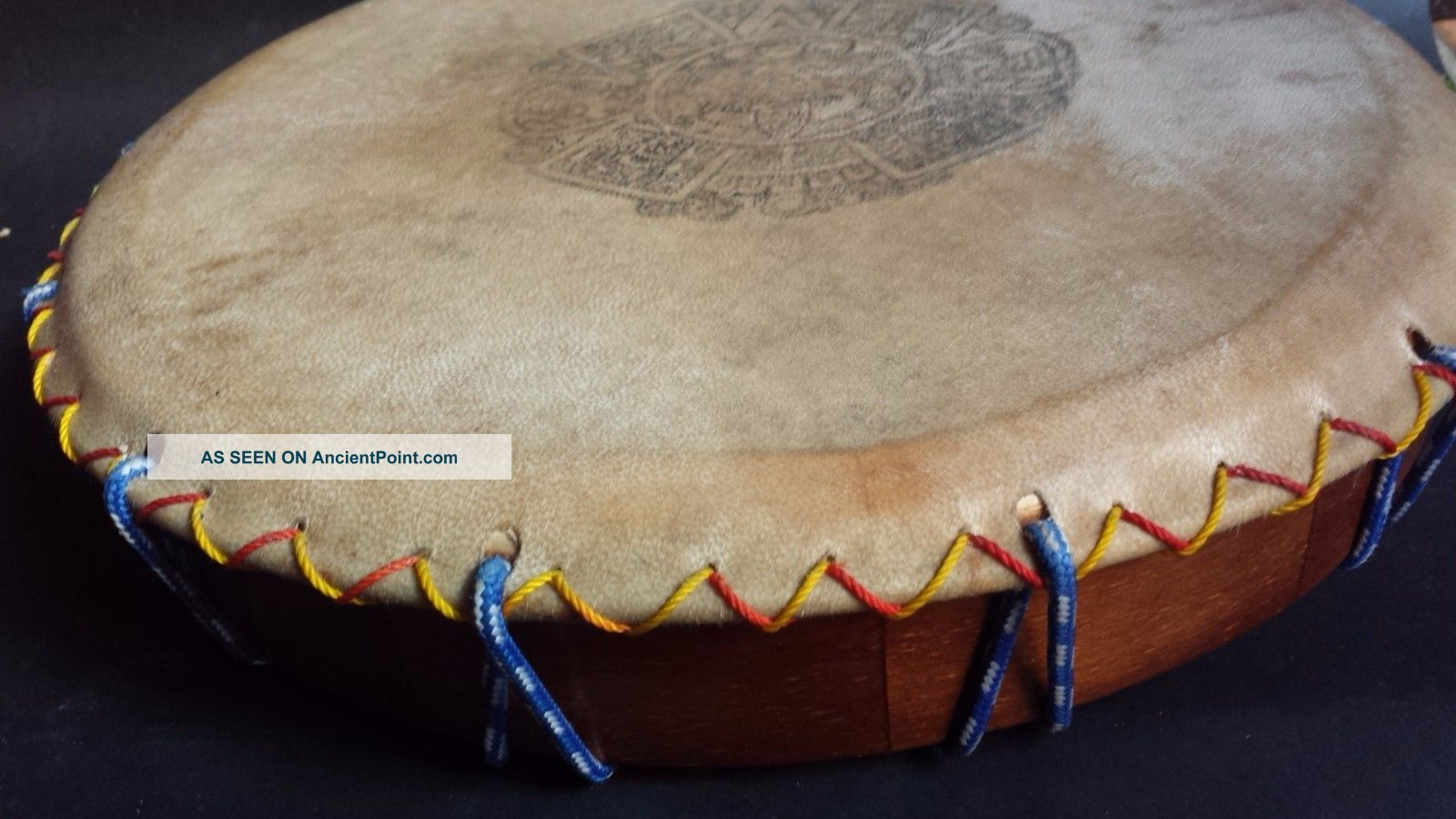 Atzec Shamanic Ayacahuite Wood Drum Mexican Latin Musical Percussion Instrument Percussion photo