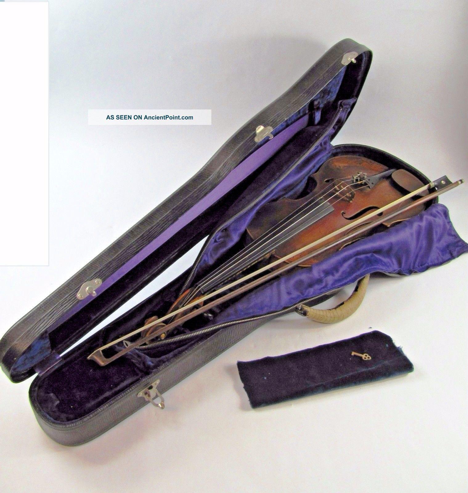 Morelli Violin Karl Hermann Deluxe Model V 234 C 1920 W/ Inlay & Case,  Germany String photo