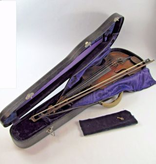 Morelli Violin Karl Hermann Deluxe Model V 234 C 1920 W/ Inlay & Case,  Germany photo