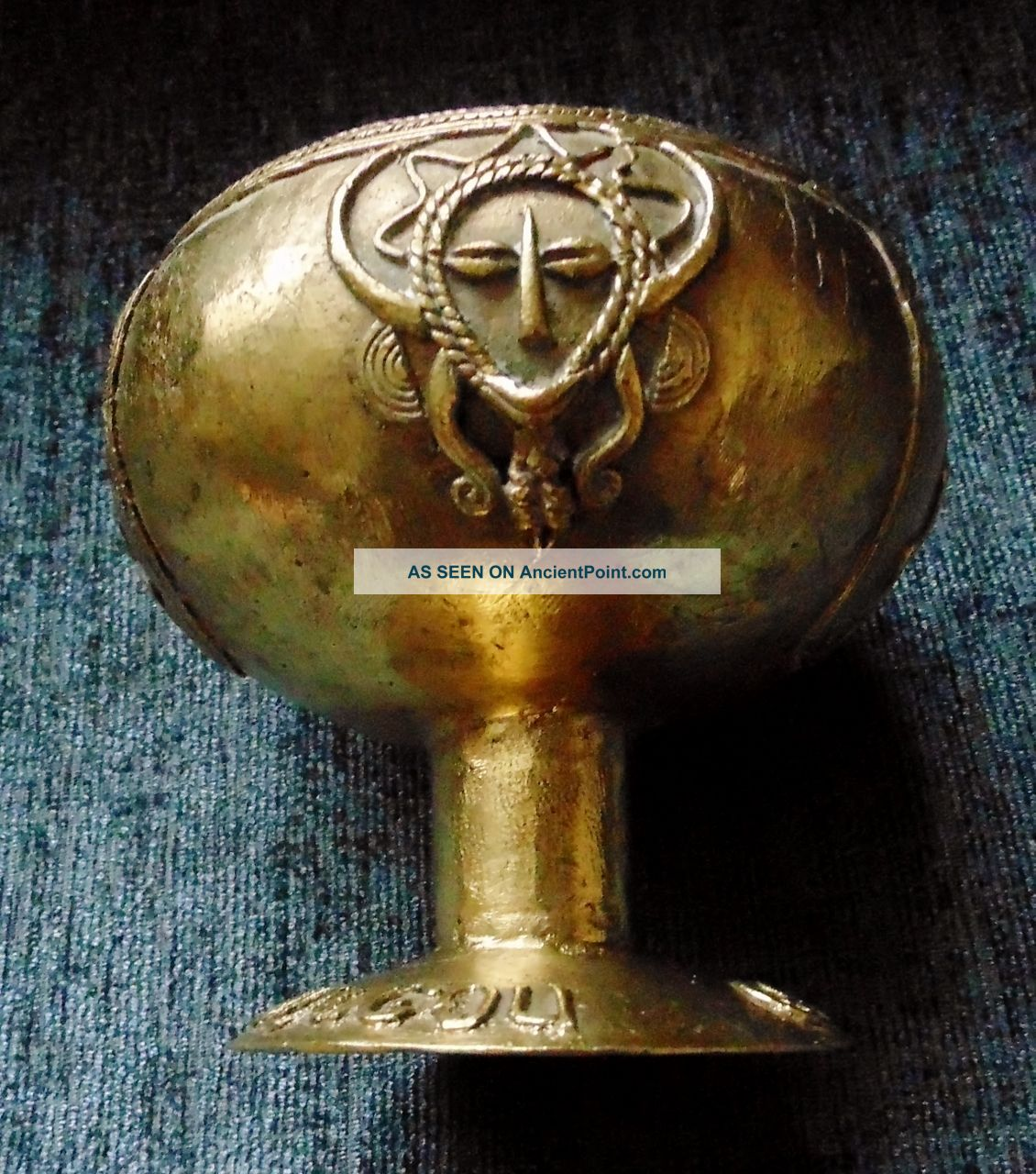 Derme Morou Bronze Goblet ' Ouagadougou Golf Club ' Trophy African Art Other African Antiques photo
