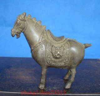 Antique Collectible Handmade Statue Horse Bronze Art Deco photo