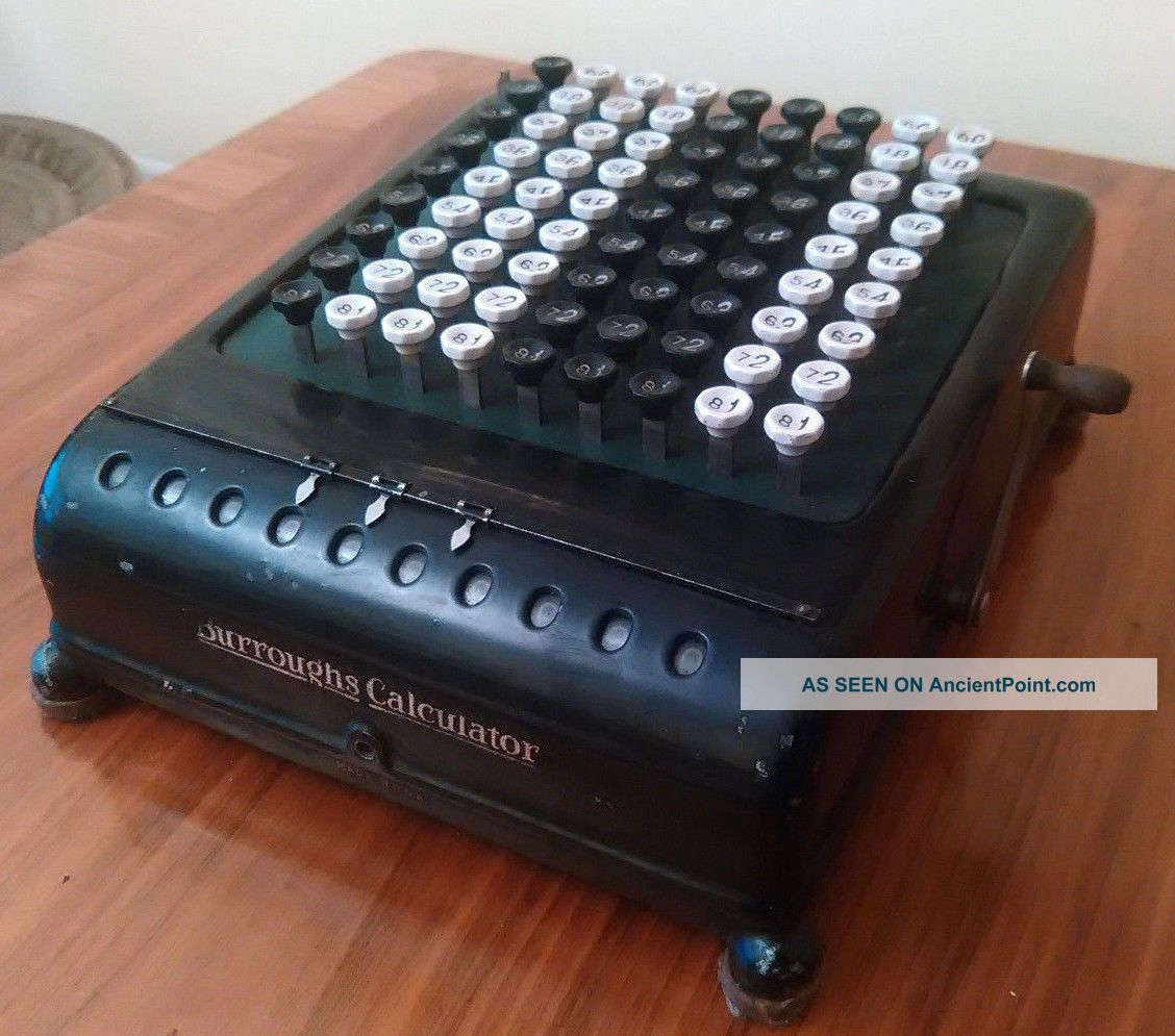Burroughs Adding Machine 1918 - 1927 Second Case Made In Usa Mechanical Calculator Cash Register, Adding Machines photo