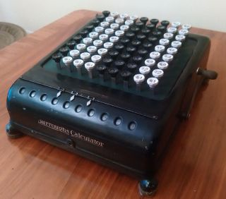 Burroughs Adding Machine 1918 - 1927 Second Case Made In Usa Mechanical Calculator photo