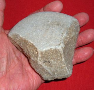 Fine Early Man Cobble Tool,  Prehistoric European Artifact 400 - 600k Years Old photo