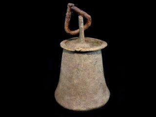 Large Byzantine Era Bronze Bell,  Still Ringing, photo