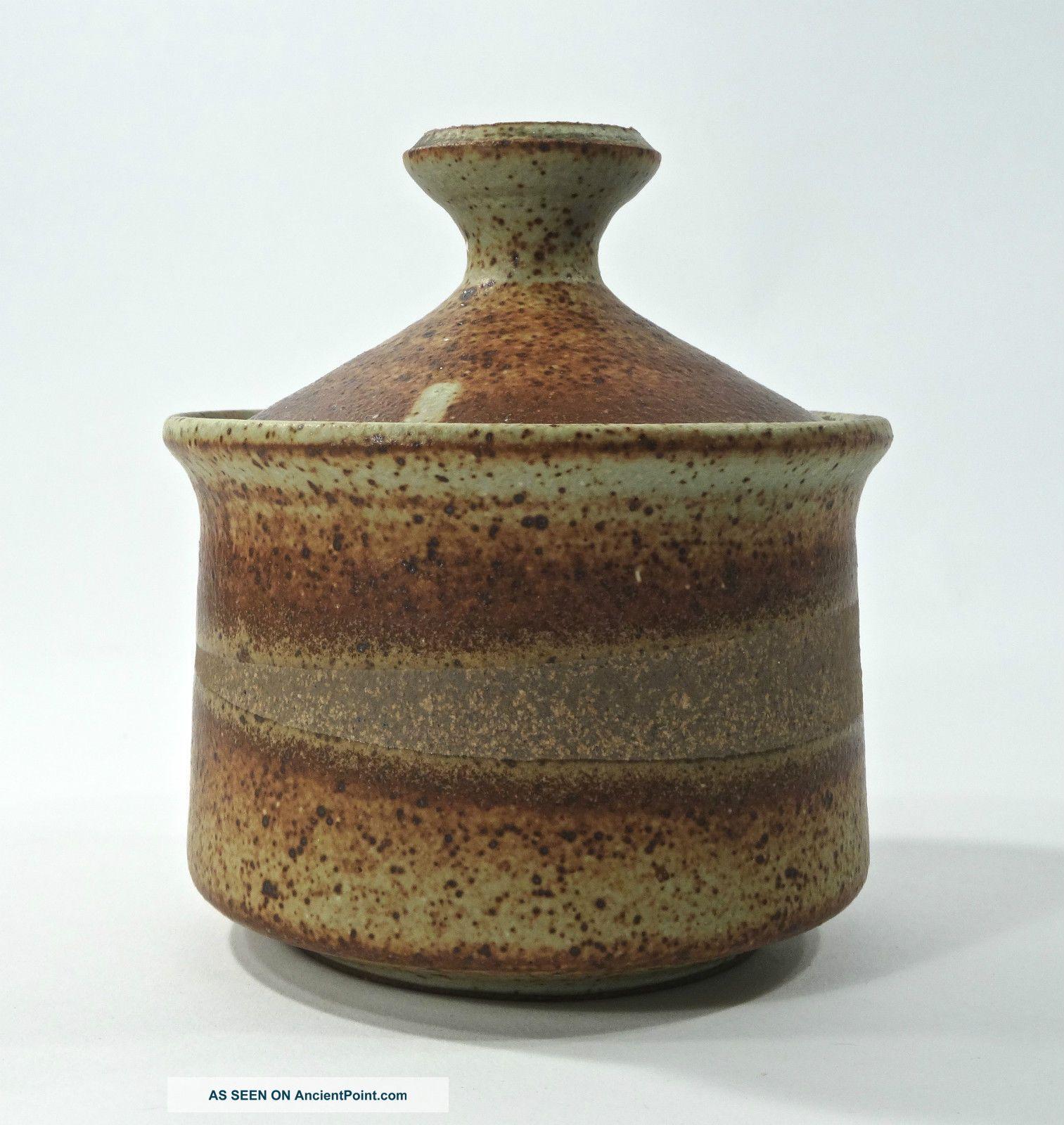 Mid Century James & Philip Secrest Studio Pottery Jar Student Of Daniel Rhodes Mid-Century Modernism photo