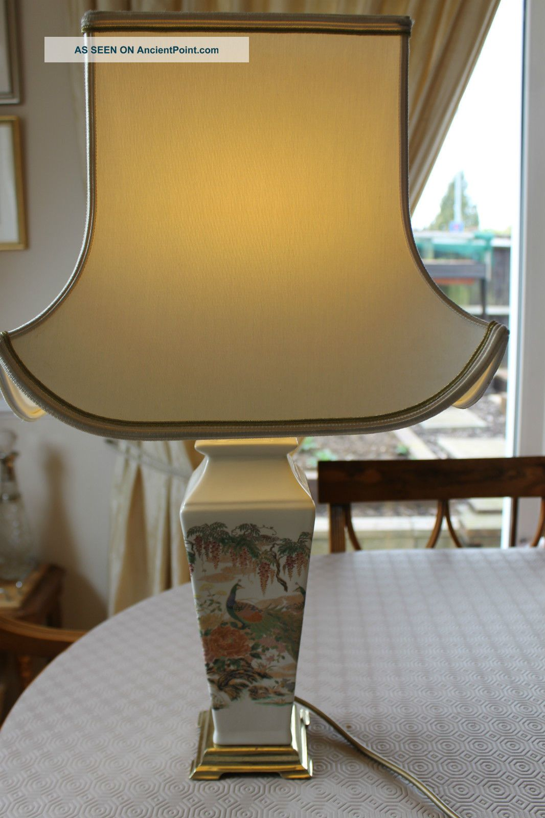 Vintage Pottery Table Lamp F.  W.  O.  Circa 1960s Reproduction Lamps photo