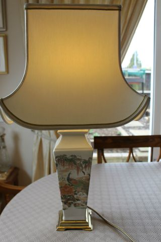 Vintage Pottery Table Lamp F.  W.  O.  Circa 1960s photo