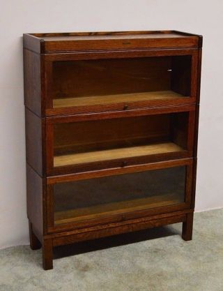 Lundstrom Antique Quartersawn Oak Stacking Barrister Bookcase photo