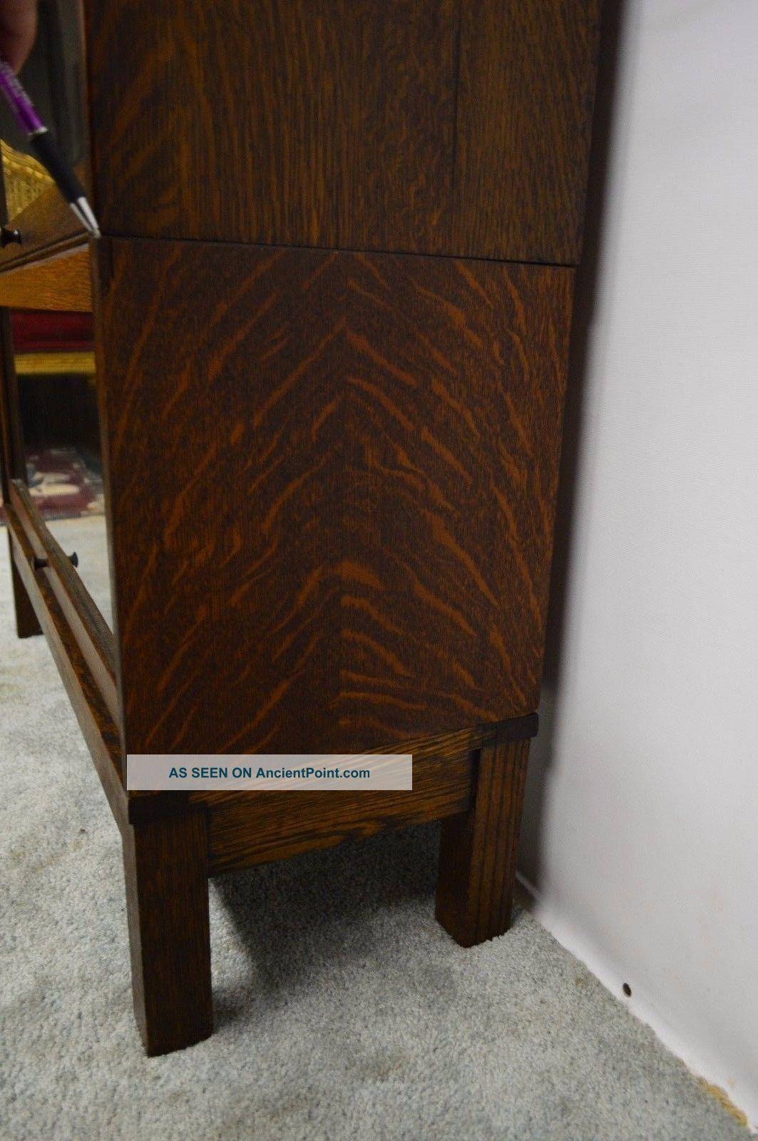 Lundstrom Antique Quartersawn Oak Stacking Barrister Bookcase
