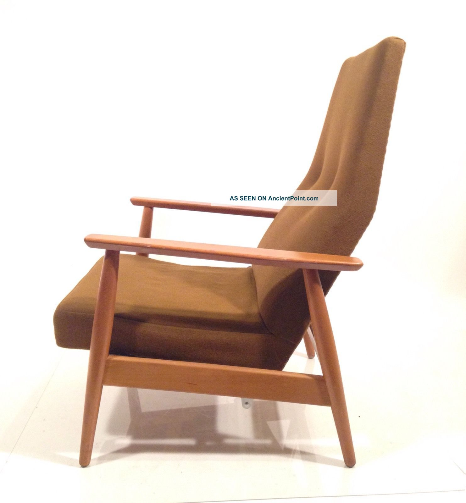 Vintage Danish Modern Mid Century Recliner Lounge Norway High Back Club Chair Post-1950 photo