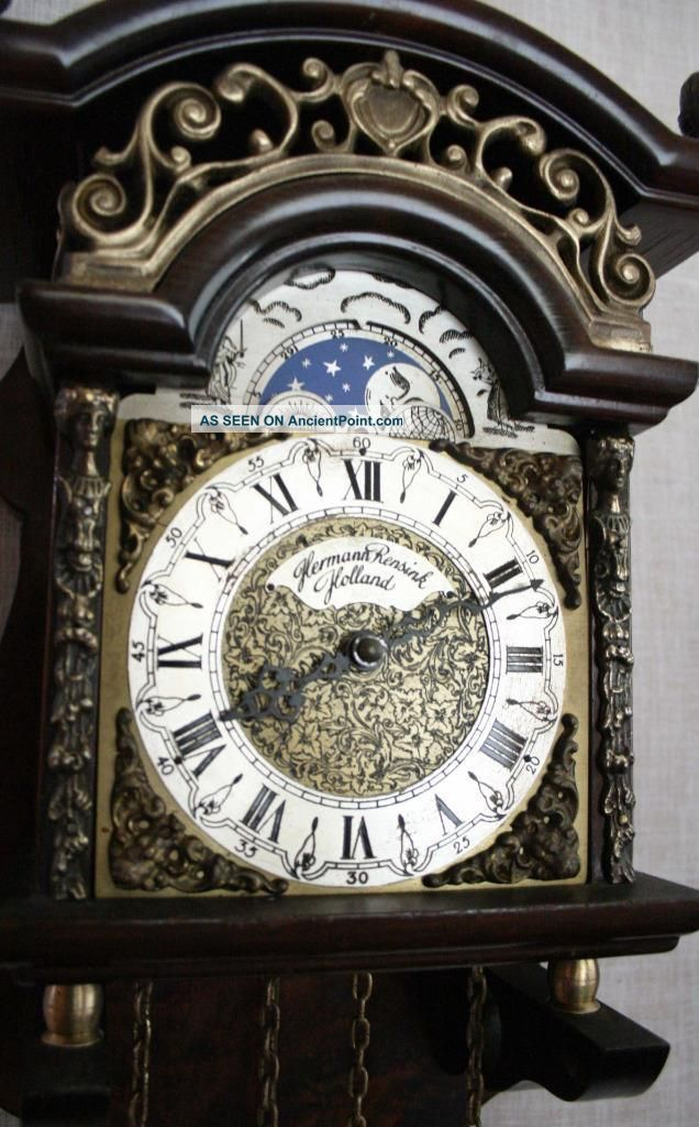 Hermle Sallander Dutch Zaanse Wall Clock Moonphase Cuppercarved Dial Sa 13 Clocks photo