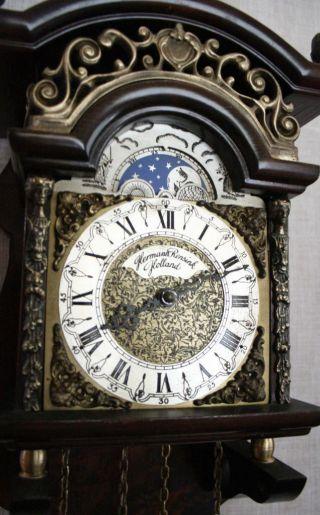 Hermle Sallander Dutch Zaanse Wall Clock Moonphase Cuppercarved Dial Sa 13 photo