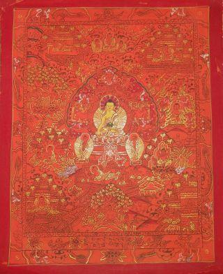 Masterpiece Handpainted Tibetan Chinese Thangka Buddha Life Painting As photo