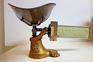 Pelouze General Store Candy Scale Crows Foot Dated May 25,  1915 N1015 photo
