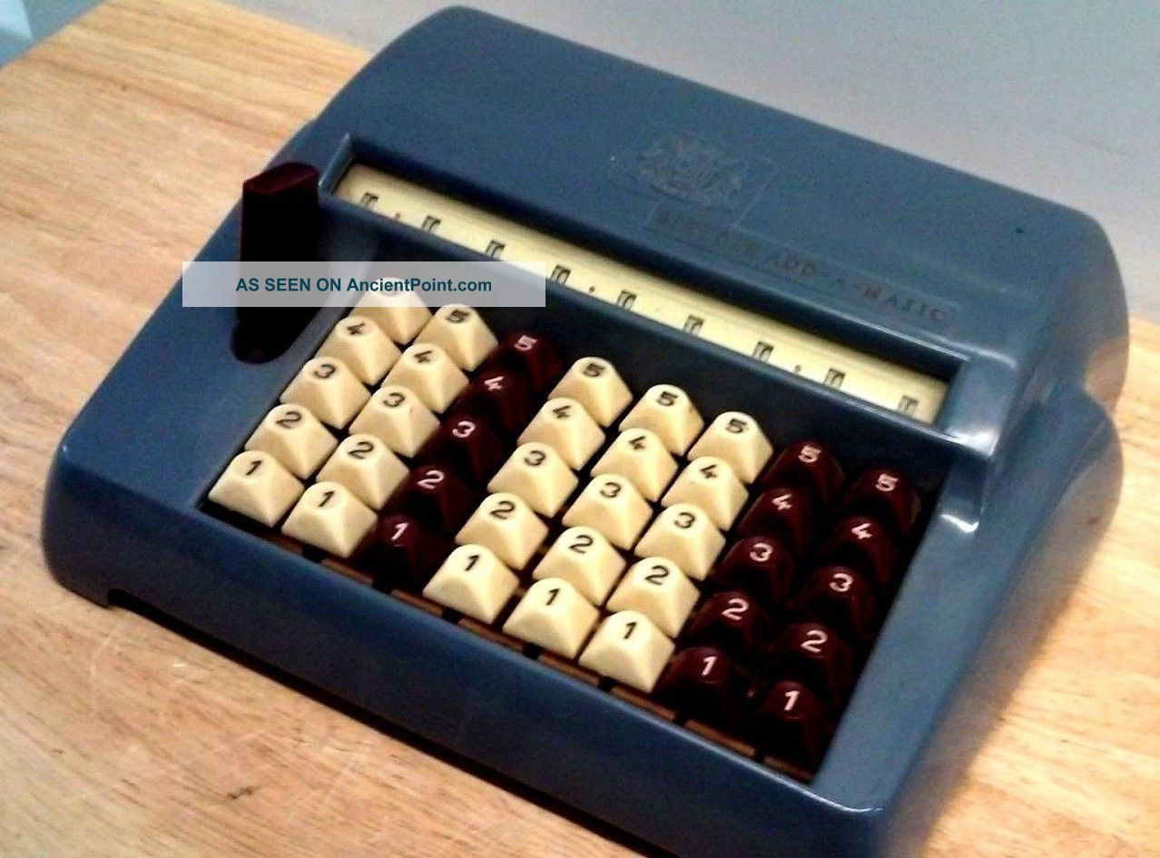 Vintage Chadwick Speedee Add A Matic Counting Machine Comptometer Cash Register, Adding Machines photo