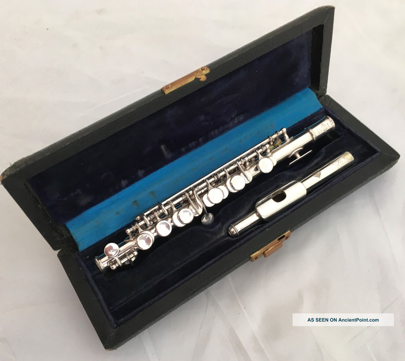 Antique Selmer Paris Depose No.  3717 Silvered French Piccolo In C Wind photo
