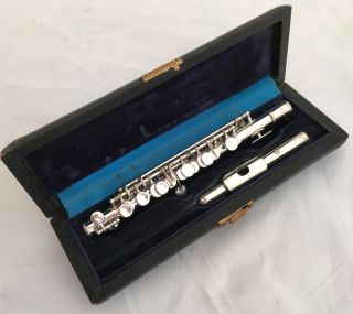 Antique Selmer Paris Depose No.  3717 Silvered French Piccolo In C photo