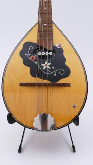 Old Mandolin Mandoline Shadow Vintage No Lute Guitar Bouzouki Violin Antique photo