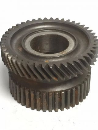 3 - 1/2 Gear Industrial Steampunk Repurpose Steel Sprocket Vintage Pulley Rust L10 photo