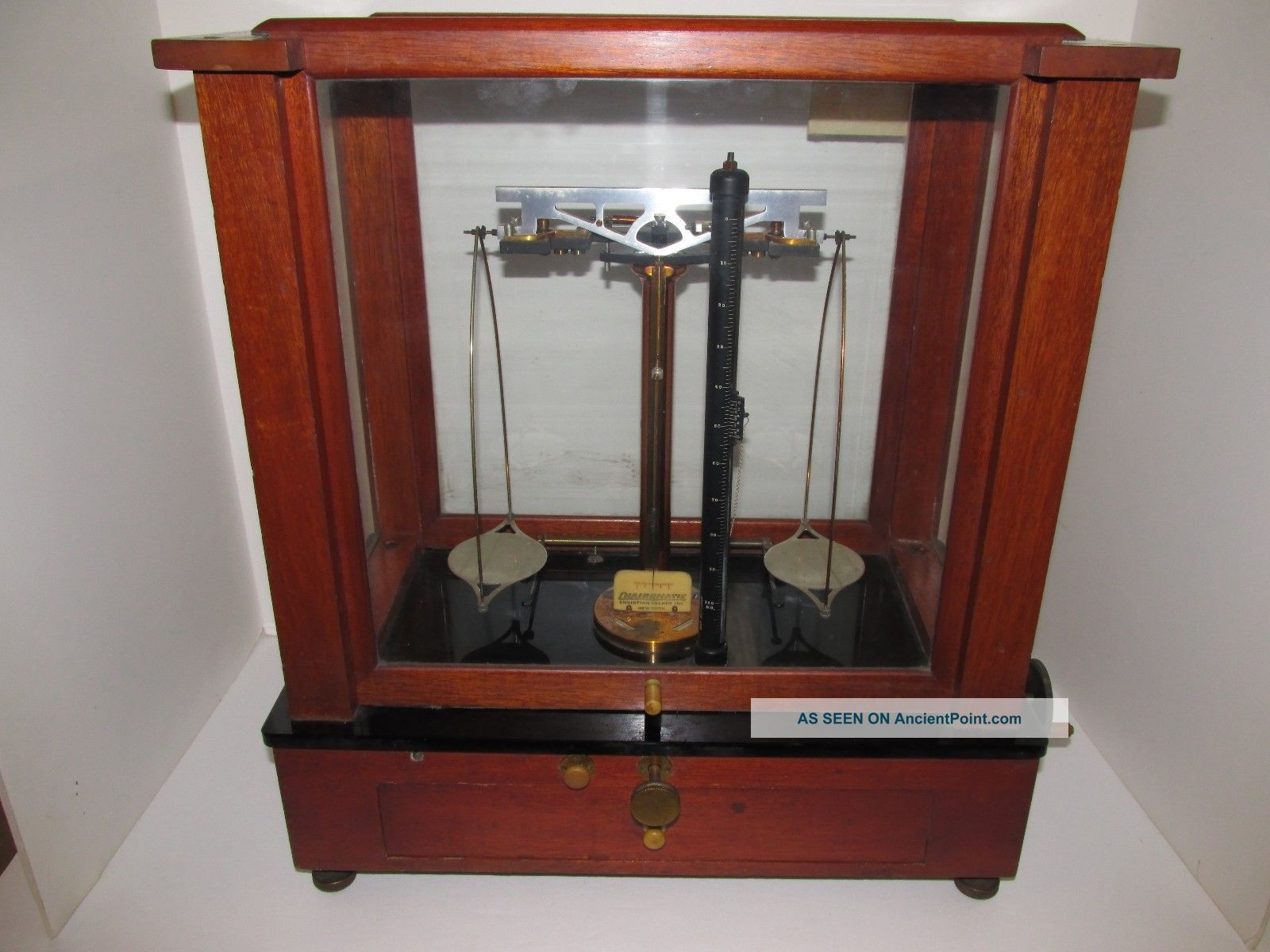 Antique Instrument,  Analytical And Diamond Balance Scale,  Christian Becker Inc. Scales photo