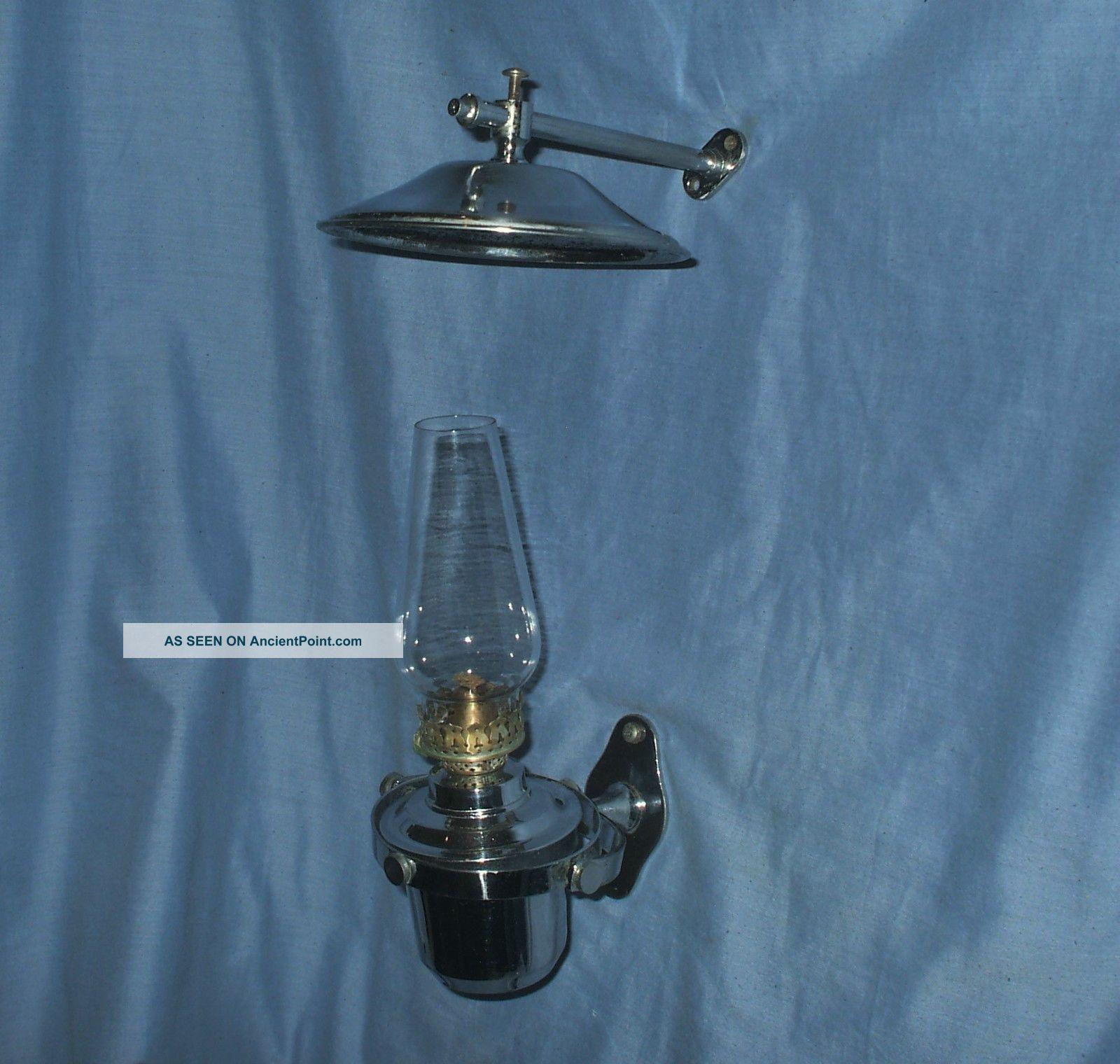 Chrome Gimbal Oil Lamp - Marine / Caravan / Camper Van / Home 20th Century photo