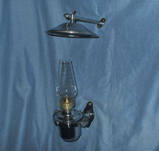 Chrome Gimbal Oil Lamp - Marine / Caravan / Camper Van / Home photo