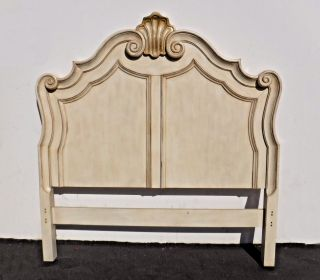 French Provincial Style Off - White Wood Queen Size Headboard photo
