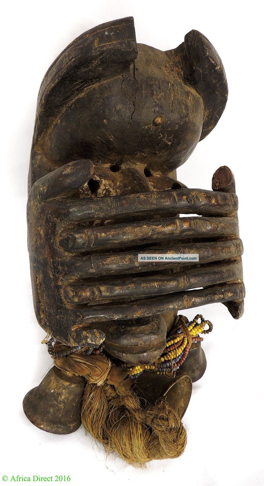 Dan Protection Mask Liberia With Fingers Over Face African Art Masks photo