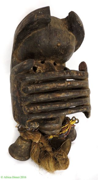 Dan Protection Mask Liberia With Fingers Over Face African Art photo