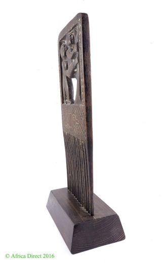Akan Figural Comb Duafe Engraved Ghana African Art photo