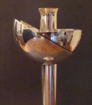 Xtra Rare Swid Powell David Palterer 80 ' S Post Modern Silver Plate Candlestick photo
