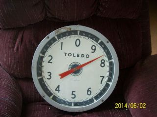 Toledo Model 2110 Hanging Scale 30 Lb Capacity 1952 Antique W/ Glass photo