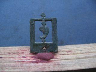 Ancient Celtic Bronze Open Work Belt Decoration 300 - 100 B.  C. photo