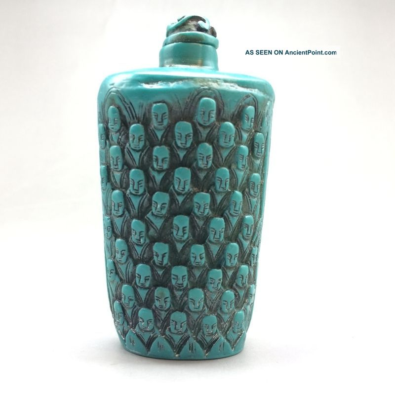 Consummate Craft Ornaments In Ancient China Turquoise Carving Monk Snuff Bottles Snuff Bottles photo