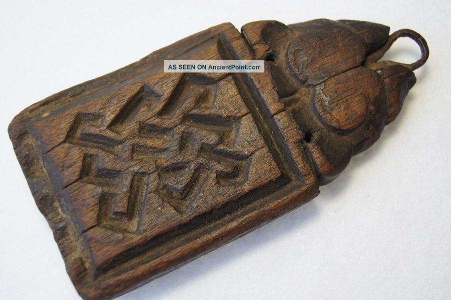 Antique Wooden Yak Animal Amulet Tibet Other Ethnographic Antiques photo