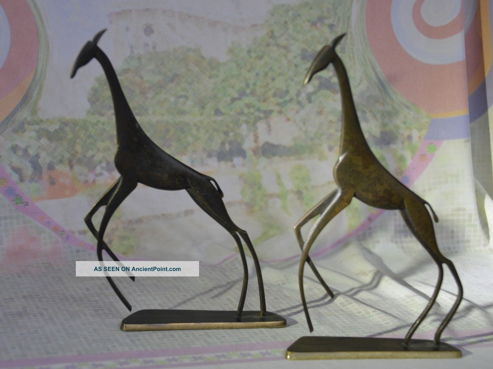 Hagenauer,  Giraffes.  Wien,  Vienna,  Werkstätten,  1940s,  & Richard Rohac Giraffe Art Deco photo