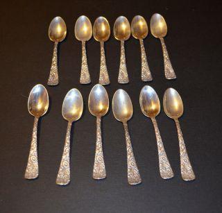 Demitasse Spoon (4 5/8in) In Floral Pattern Stamped Sterling W/hallmark photo