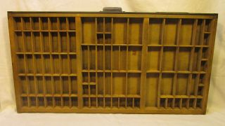 Large Vintage Hamilton Printers Tray Drawer Case Shadow Box 32