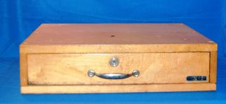 Antique Indiana Cash Drawer Co.  Shelbyville Indiana Wood Cash Drawer photo