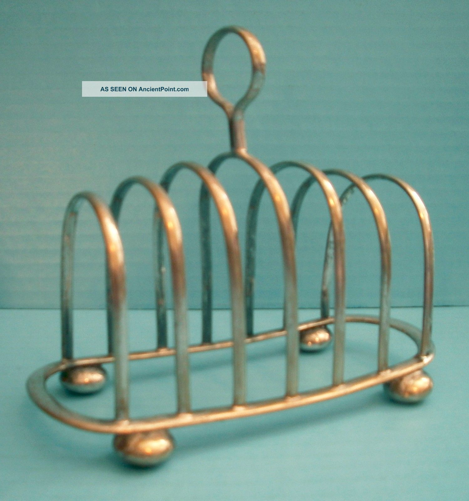 Antique Daniel & Arter Silverplate 7 Bar Toast Rack Letter Holder Espn D & A Other Antique Silverplate photo
