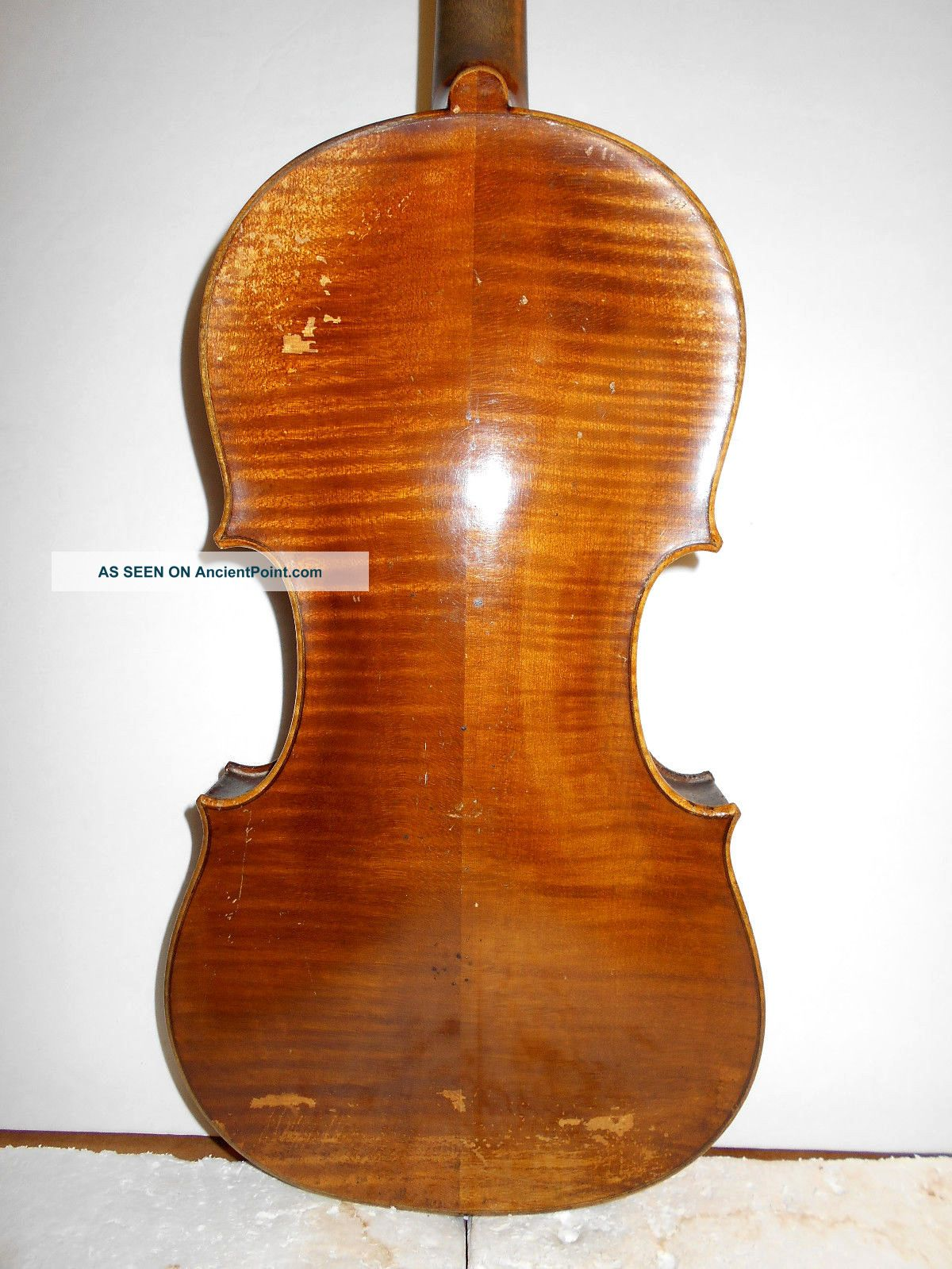 Old Vintage Antique E.  Martin Style 2 Pc Back Full Size Violin - String photo