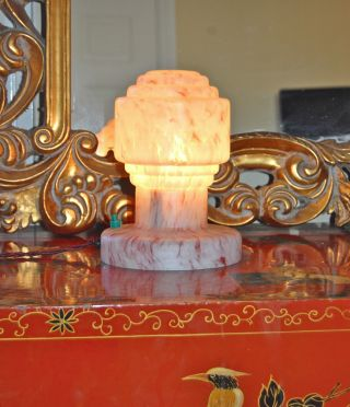 Art Deco Very Rare Lamp1930 ' S Very Rare All Glass - photo