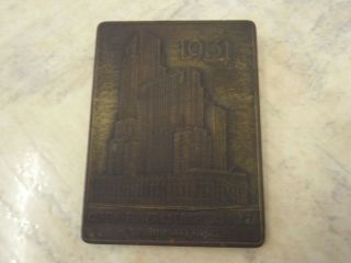 1931 Carew Tower Cincinatti Starrett Ohio Corp Metal Desk Paperweight photo