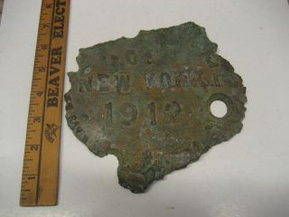 Part Of An Antique 1912 City Of York Metal Manhole?/water Meter? Cover/lid photo