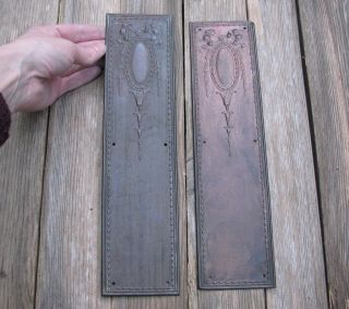 Antique Decorative Copper Door Finger Push Plates / Shop photo